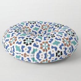 Geometric Pattern - Oriental Design Pt. 7x - seamless design ,blue, green Floor Pillow