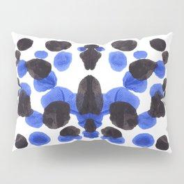 Blue And Black Ink Blot Pattern Pillow Sham