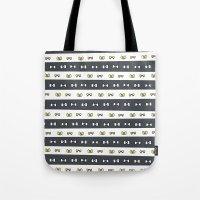 haikyuu Tote Bags featuring Haikyuu!! Fukurodani Bows by InkyThoughts