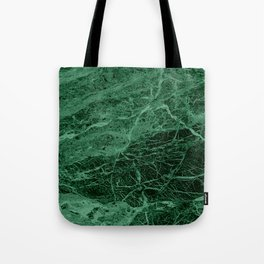 Dark emerald marble texture Tote Bag