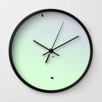flight Wall Clocks featuring flight by McKenzie Nickolas