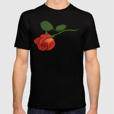 A Rose Black Mens Fitted Tee MEDIUM