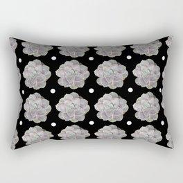 Succulent Blue Star Pattern Rectangular Pillow