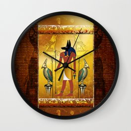 Anubis the egyptian god Wall Clock