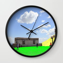 Green Sand and Yellow Hill Wall Clock