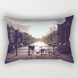 Bicycle Through Amsterdam Rectangular Pillow