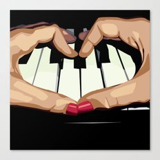 For the Love of Music Canvas Print