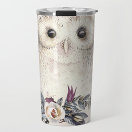 Boho Illustration- Be Wise Little Owl Travel Mug