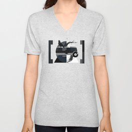 Waiting for the show to begin (Test Pattern 2) Unisex V-Neck