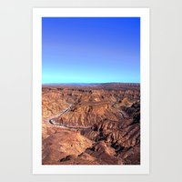 fishriver canyon Art Print