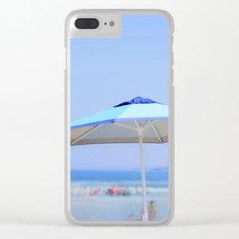 Summer's Umbrella Clear iPhone Case