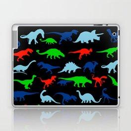 silhouettes of dinosaur pattern Laptop & iPad Skin