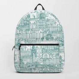 Edinburgh toile teal white Backpack