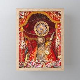 Senhor Santo Cristo dos Milagres Framed Mini Art Print