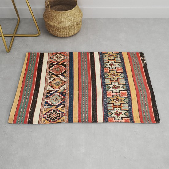 Salé  Antique Morocco North African Flatweave Rug Print by vickybragomitchell