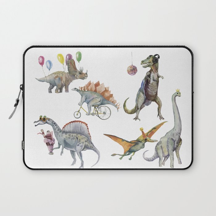 PARTY OF DINOSAURS Laptop Sleeve
