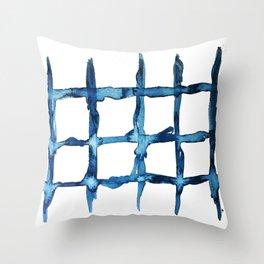 Indigo Summer Throw Pillow