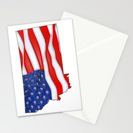 Patriotic Montana Stationery Cards