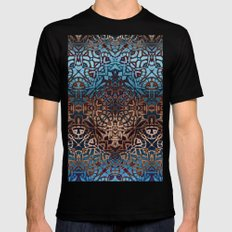 Ethnic Tribal Pattern G329 Mens Fitted Tee MEDIUM Black
