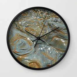 Surface of stone in water of sea Wall Clock