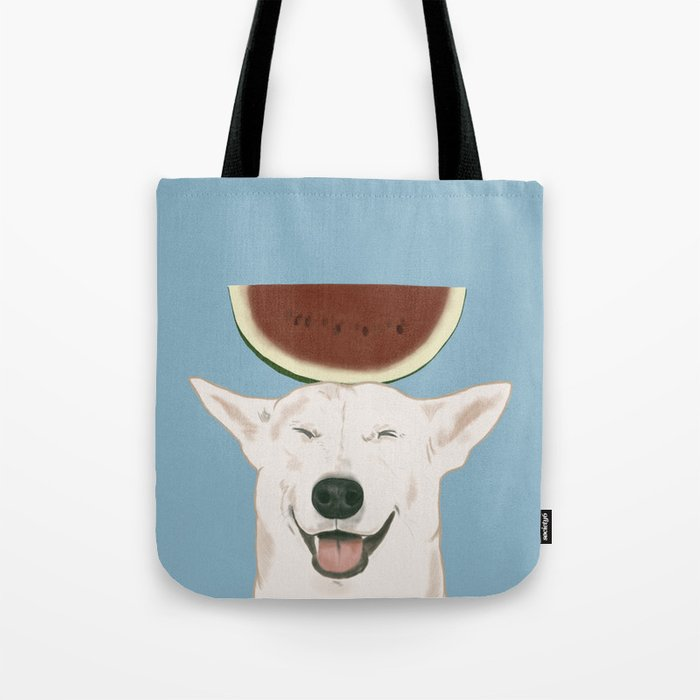 Watermelon doggy smile Tote Bag