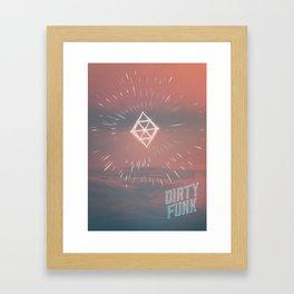 Dirty funk Framed Art Print