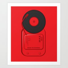 Musical School Bell Art Print