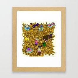 French Fries Land Framed Art Print