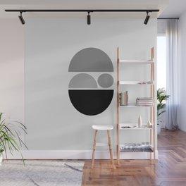 Zen Baby - Calm Abstract - Black White Grey Wall Mural