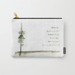 A Viking Proverb - Fir Tree Carry-All Pouch