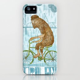 Dirty Wet Bigfoot Hipster iPhone Case