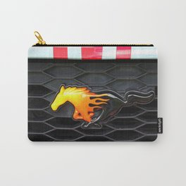 Firey Mustang Carry-All Pouch