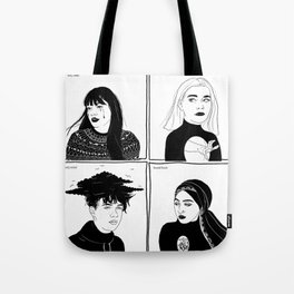 Druck - four mains Tote Bag