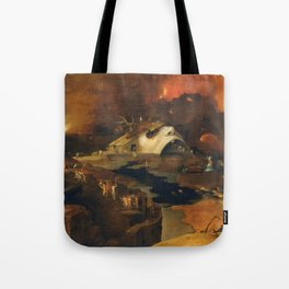 Descent Into Hell, Right Side, By Follower Of Hieronymus Bosch, Circa 1550 Tote Bag