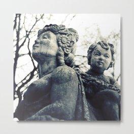 Marble portrait bust Metal Print