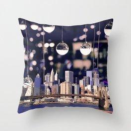 Spotlight on New York Throw Pillow