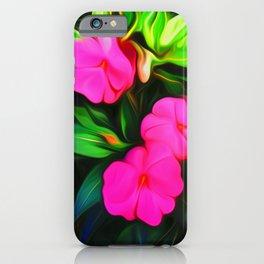 Painted Impatiens iPhone Case
