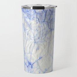 blue crumpled paper Travel Mug