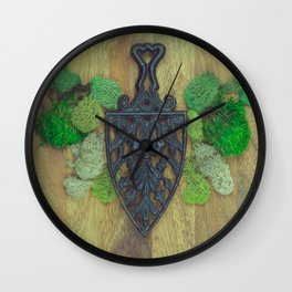 cast iron shield Wall Clock
