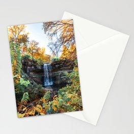 Minnehaha Falls in Autumn-Minnesota Nature Photography Stationery Cards