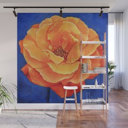 Orange Rose Wall Mural