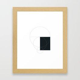 #303 Emptiness – Geometry Daily Framed Art Print