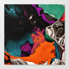 Washed out over time Canvas Print