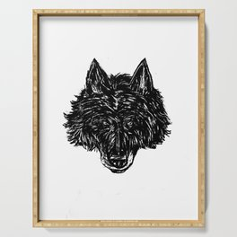 Wolf's Head Serving Tray