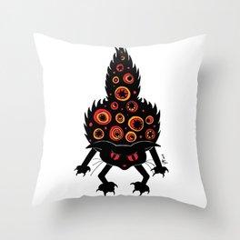 Mad Cat Throw Pillow