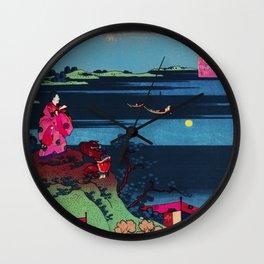 POET & MOON, HOKUSAI REMIX Wall Clock