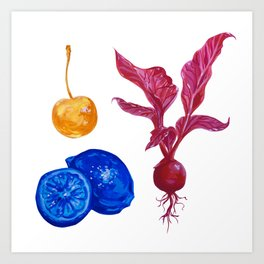 Tri-colour produce Art Print