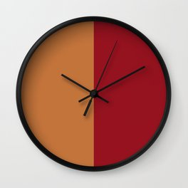 rusty orange and red Wall Clock