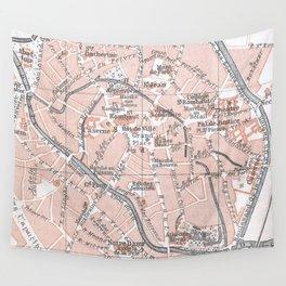 Vintage Map of Mechelen Belgium (1905) Wall Tapestry