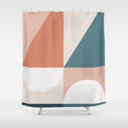 Cirque 02 Abstract Geometric Shower Curtain
